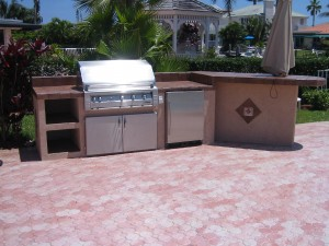 built in alfresco infrared grill outdoor kitchen island